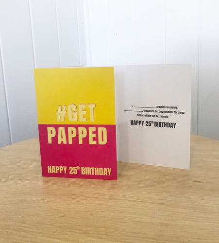 #GetPapped 25th Birthday Card