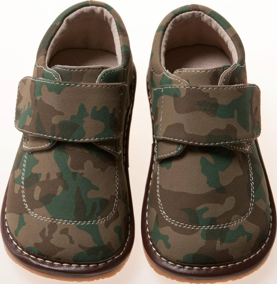 CLOSEOUT SALE! Leather Toddler Boy's Camo Squeaky Shoes Size 1 only