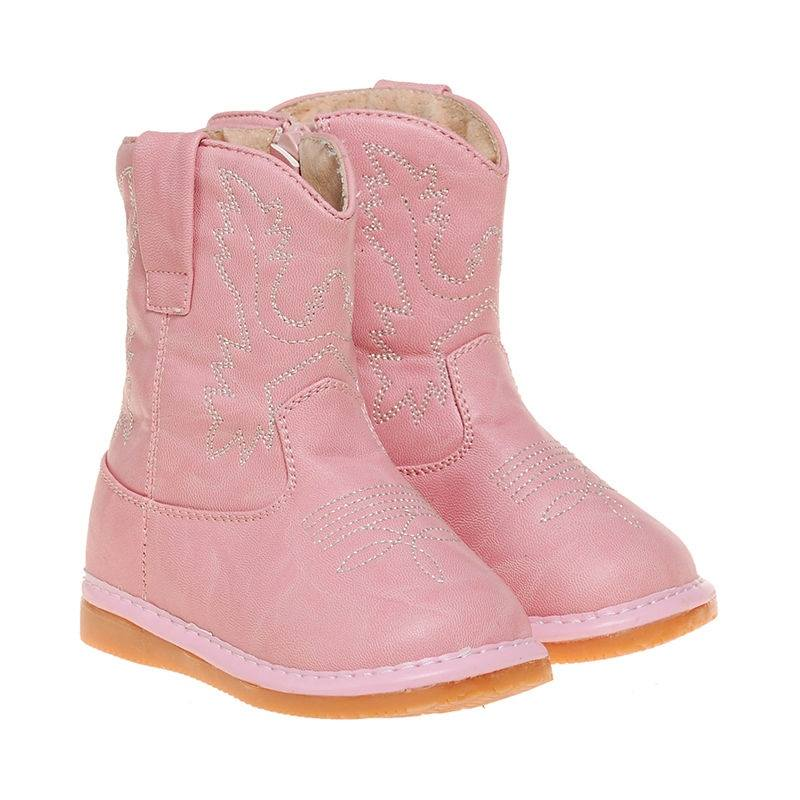 Toddler Girl's Light Pink Cowboy  Squeaky Boots