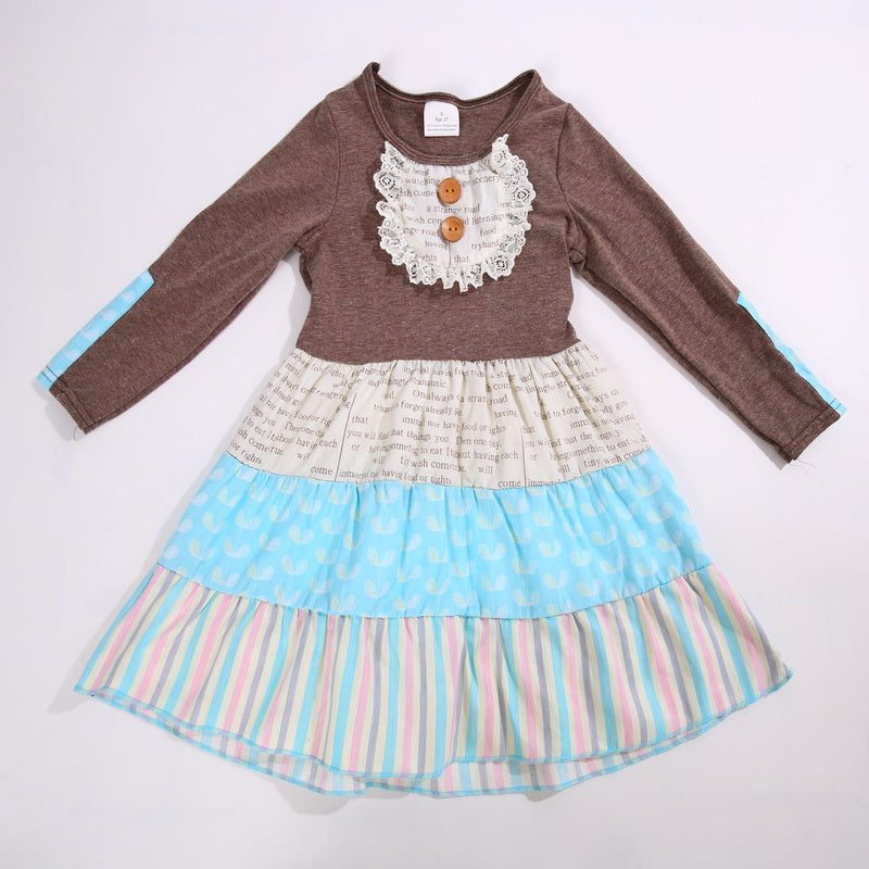 W-248 Girl's Long Sleeve Dress Size 3T, 4T only