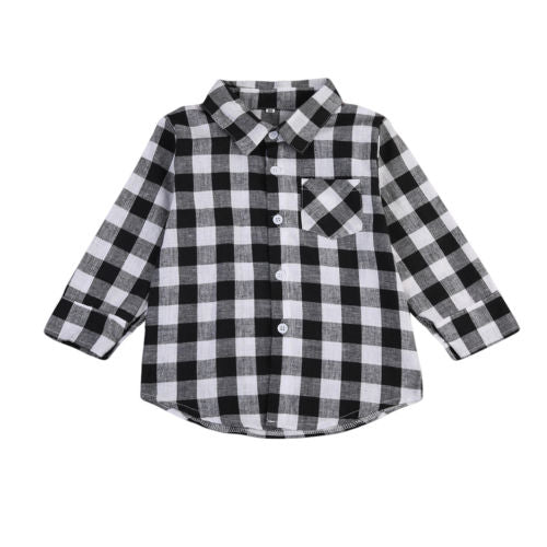 S-1984  Long Sleeve Plaid Shirt Size 24M-7T