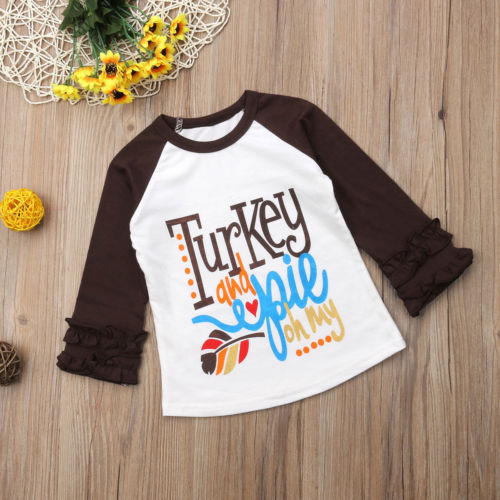 S-453 Girl's Thanksgiving Top Size 2T-6T