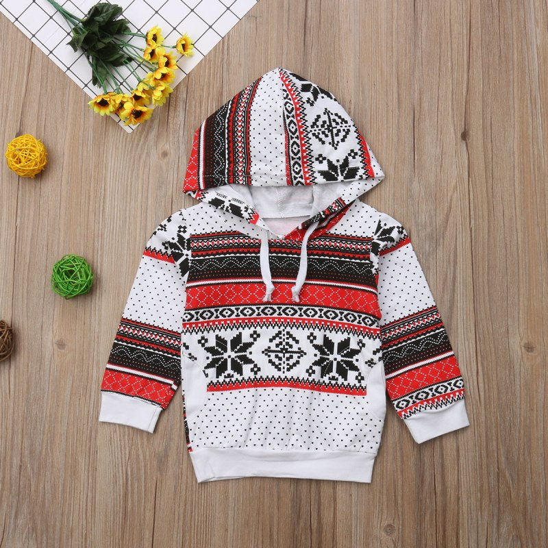 S-598 Christmas Hooded Top Size 12M-5T