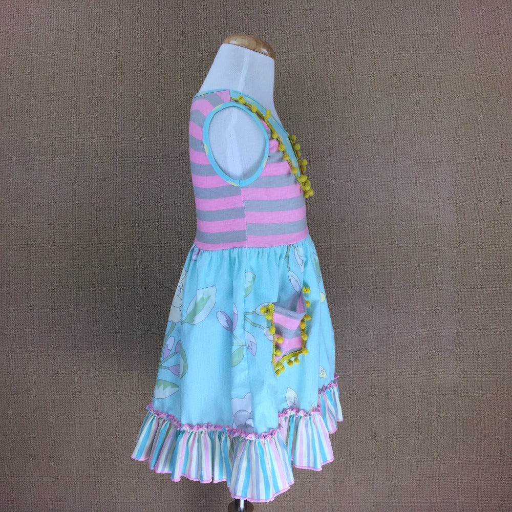 W-239 Cotton Girl's dress Size 3T, 4T only
