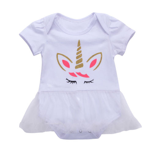 S-159 Baby Toddler Girl's Unicorn Outfits Size 3M-24M
