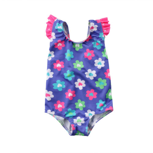 S-1613  Girl's  Swimsuit  Size 12M-4T