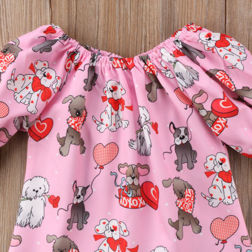 S-480 Valentins Girl's Half Sleeve Dress Size12M-4T