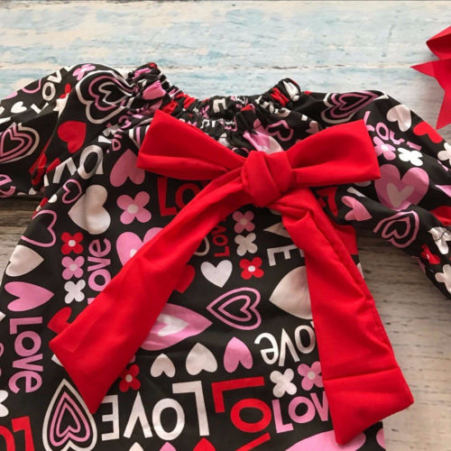 S-478 Valentine's Day Girl's Dress Size 18M-5T