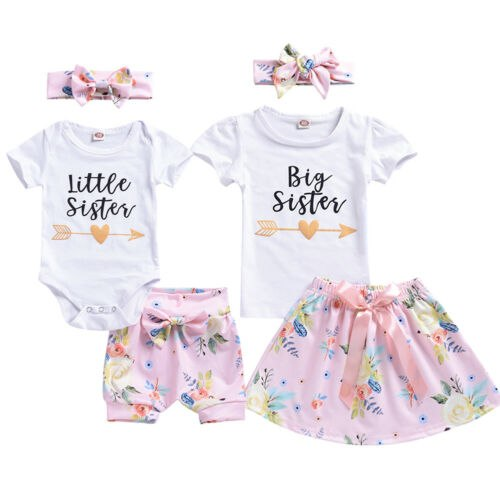 S-1296  Big Little Sister Matching Outfits