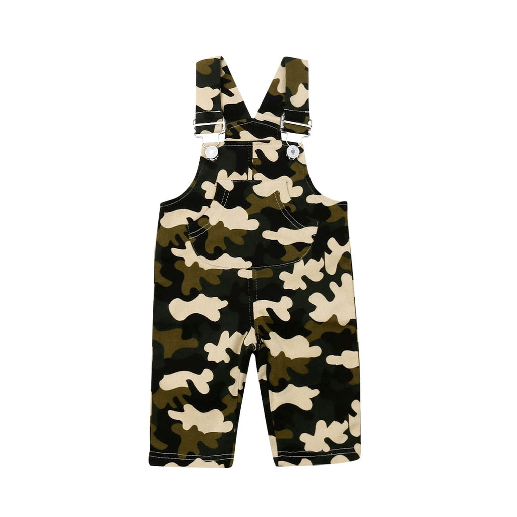 S-1947 Baby Boy's Camouflage Sleeveless Overall Size 6M-3T