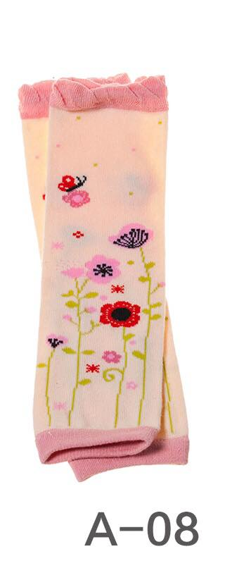 A-08 Toddler Girl's Flowers and Butterflies Leg Warmers
