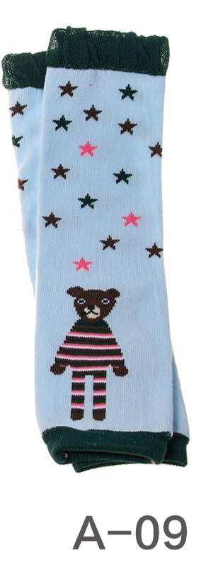 A-09 Toddler Girl's Bear with Stars Leg Warmers