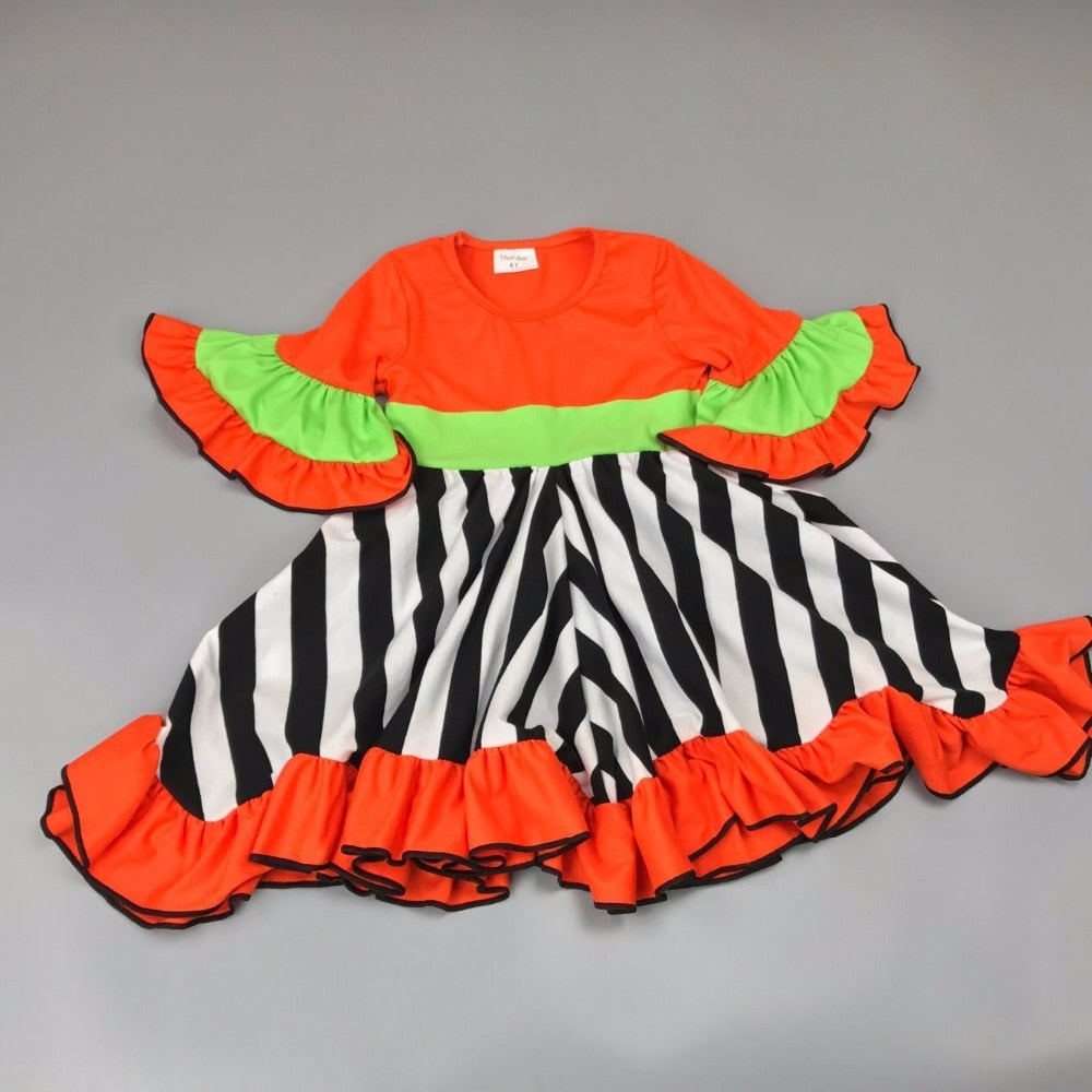 W-554 Girl's Halloween Fall Dress Size 5T Only