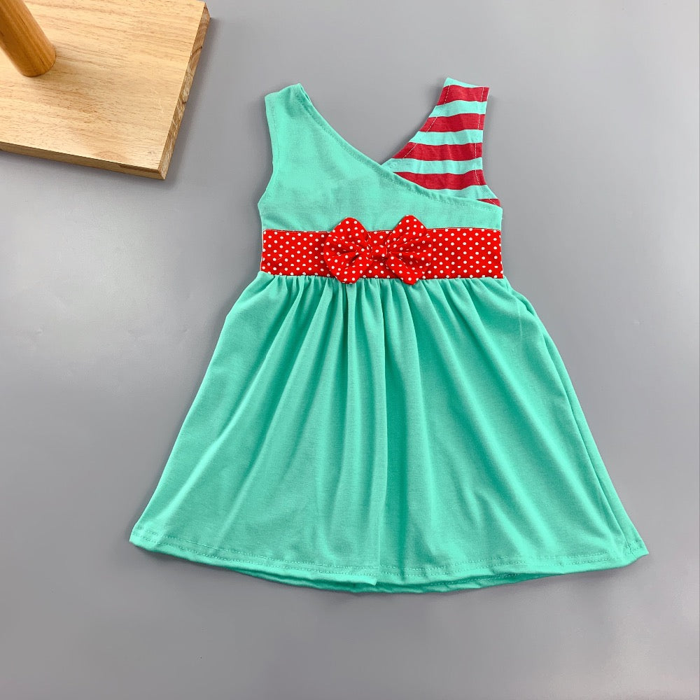 W-1334 Girl's Dress Size 3T-8 READY TO SHIP FROM OHIO