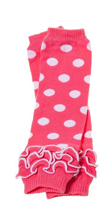 B-04 Toddler Girl's Pink with White  Dots Leg Warmers