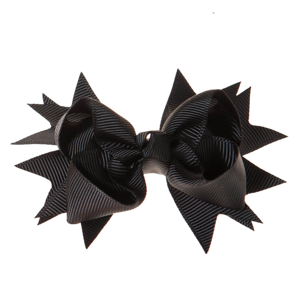 Solid Black Clip on Hair/Shoe Bow, Great for Our Clip on Squeaky Shoes (Sold Individually)