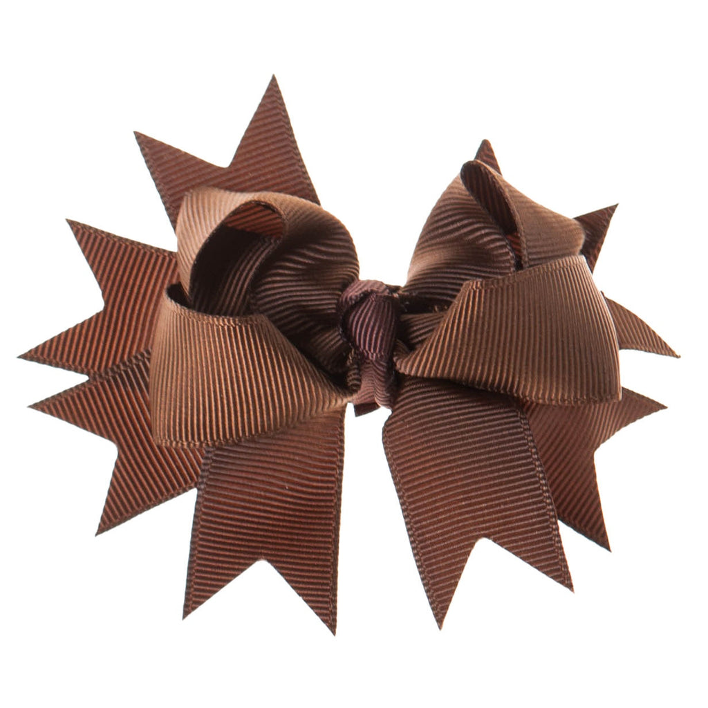 Solid Brown Clip on Hair/Shoe Bow, Great for Our Clip on Squeaky Shoes (Sold Individually)