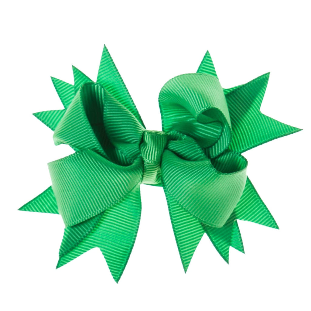 Solid Green Clip on Hair/Shoe Bow, Great for Our Clip on Squeaky Shoes (Sold Individually)