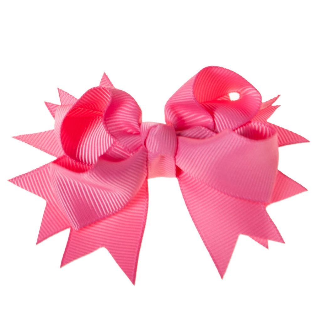 Solid Hot Pink Clip on Hair/Shoe Bow, Great for Our Clip on Squeaky Shoes (Sold Individually)