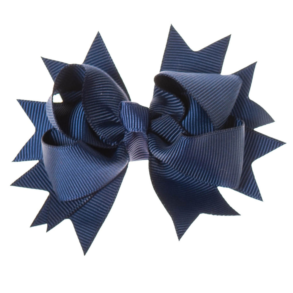 Solid Navy Blue Clip on Hair/Shoe Bow, Great for Our Clip on Squeaky Shoes (Sold Individually)