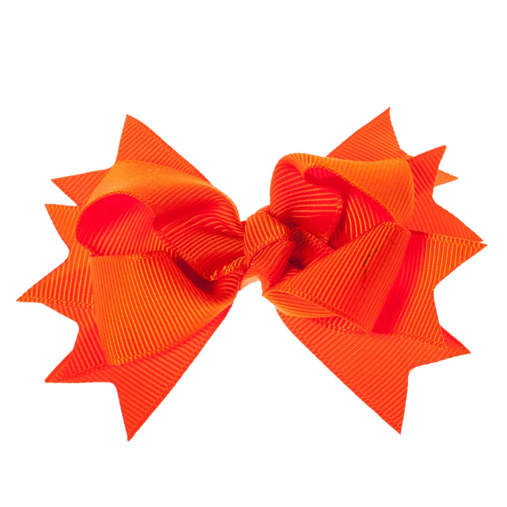 Solid Orange Clip on Hair/Shoe Bow, Great for Our Clip on Squeaky Shoes (Sold Individually)