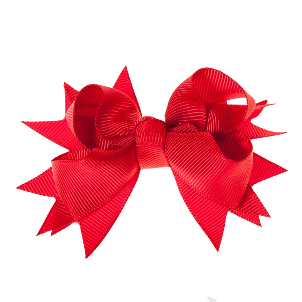 Solid Red Clip on Hair/Shoe Bow, Great for Our Clip on Squeaky Shoes (Sold Individually)