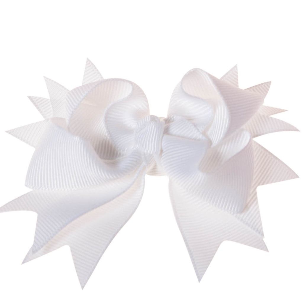 Solid White Clip on Hair/Shoe Bow, Great for Our Clip on Squeaky Shoes (Sold Individually)