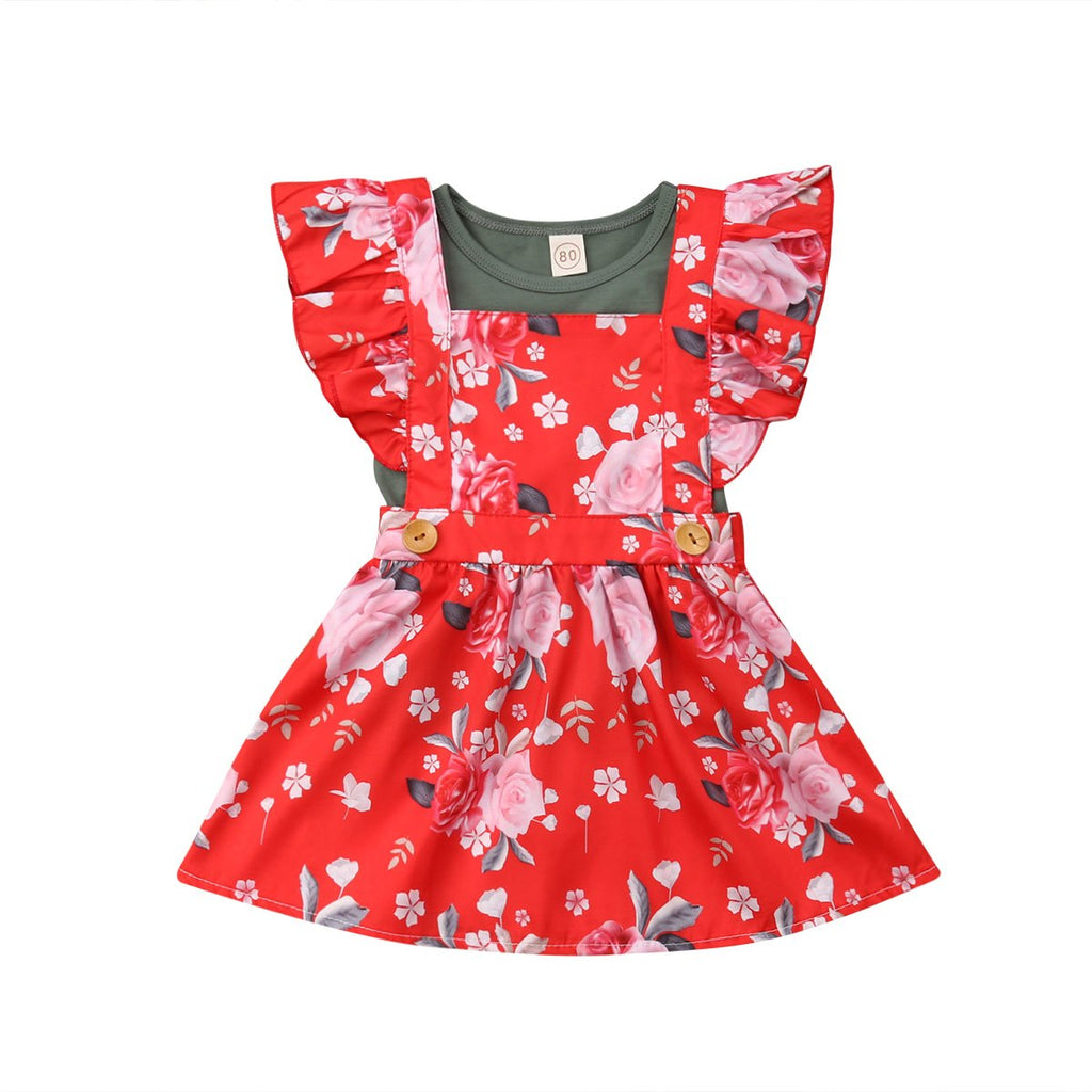 S-1288 Girl's Dress with Top Shirt Size 12M-4T