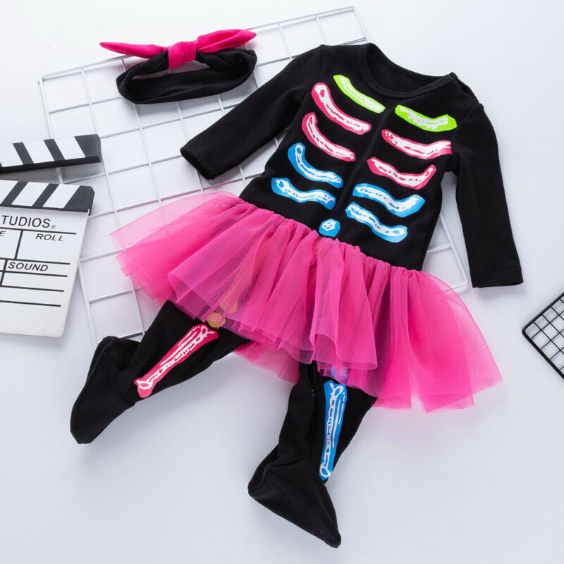 S-1891 Baby Girl Halloween Costume Romper 2 PCS Set Size 3M-24M