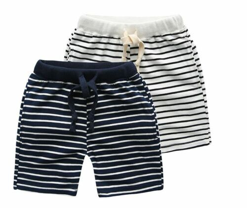 S-1608 Boy's Stripe Shorts Size 3T-7