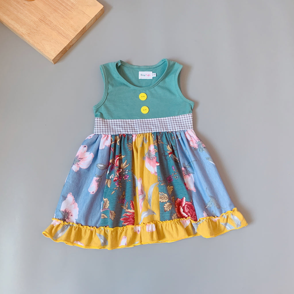 W-1917 Boutique Toddler Girl's Dress Size 3M-24M