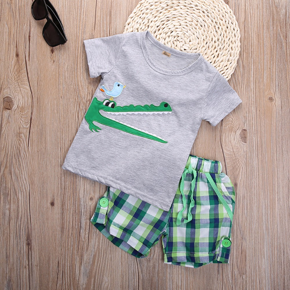 S-1028  Boy's 2 PCS Set Size 2T-7
