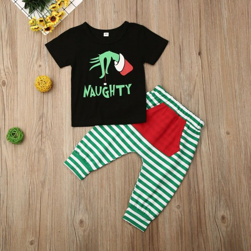 S-1985 Christmas 2 PCS Outfit Size 2T-6T