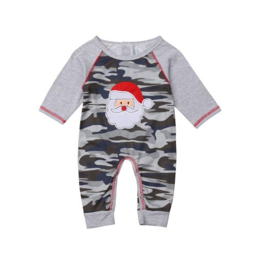 S-1980 Baby's Camo Christmas Romper Size 3M-18M