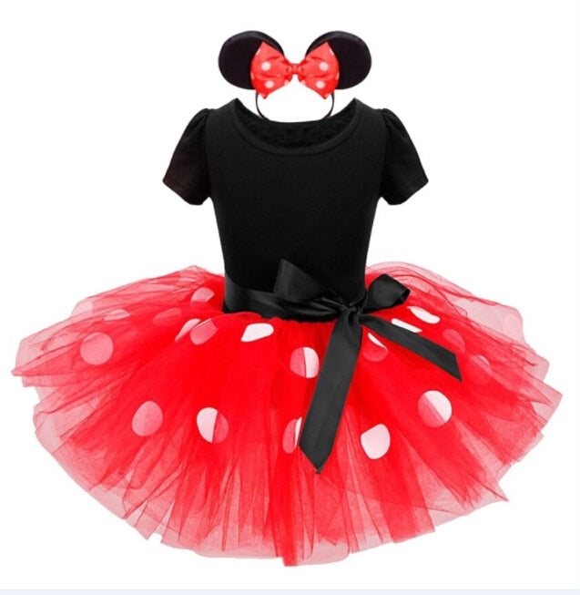S-191 Girl's Short Sleeve Tutu Dress Size 12M-6T Red, Pink