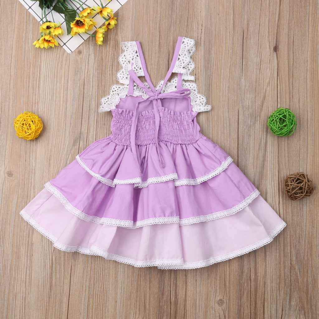 S-1229  Girl's Sleeveless Dress Size 12M-5T
