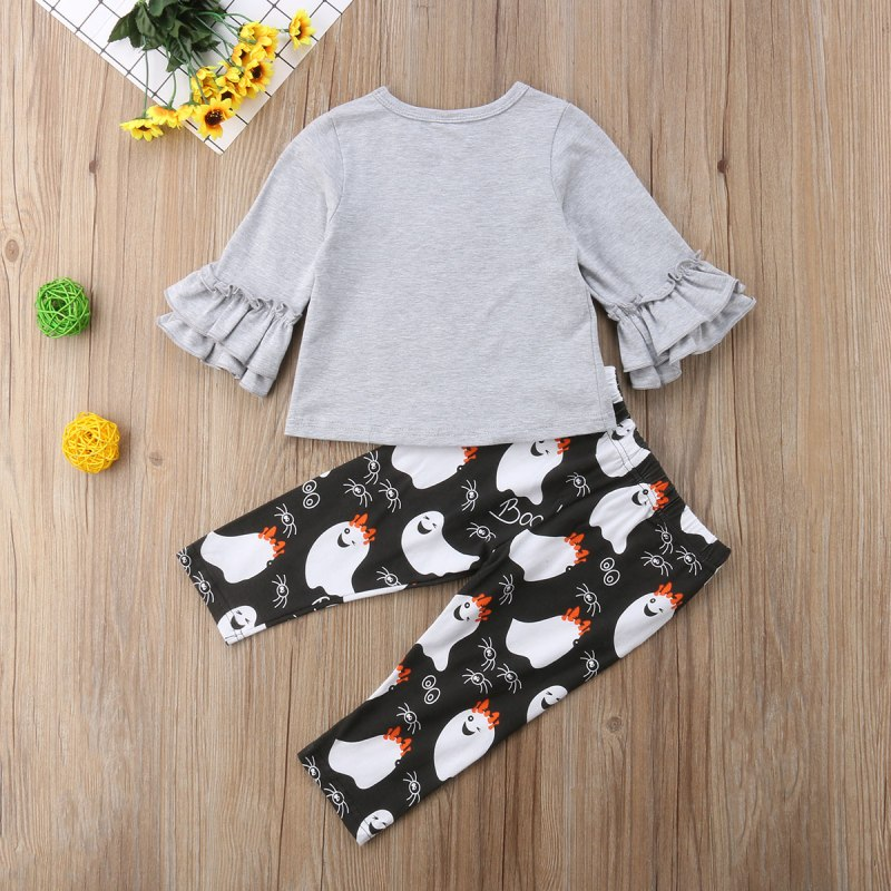 S-289 Cute Halloween Kids Baby Girls 2 PCS.  Outfit  Sizes 0-4T