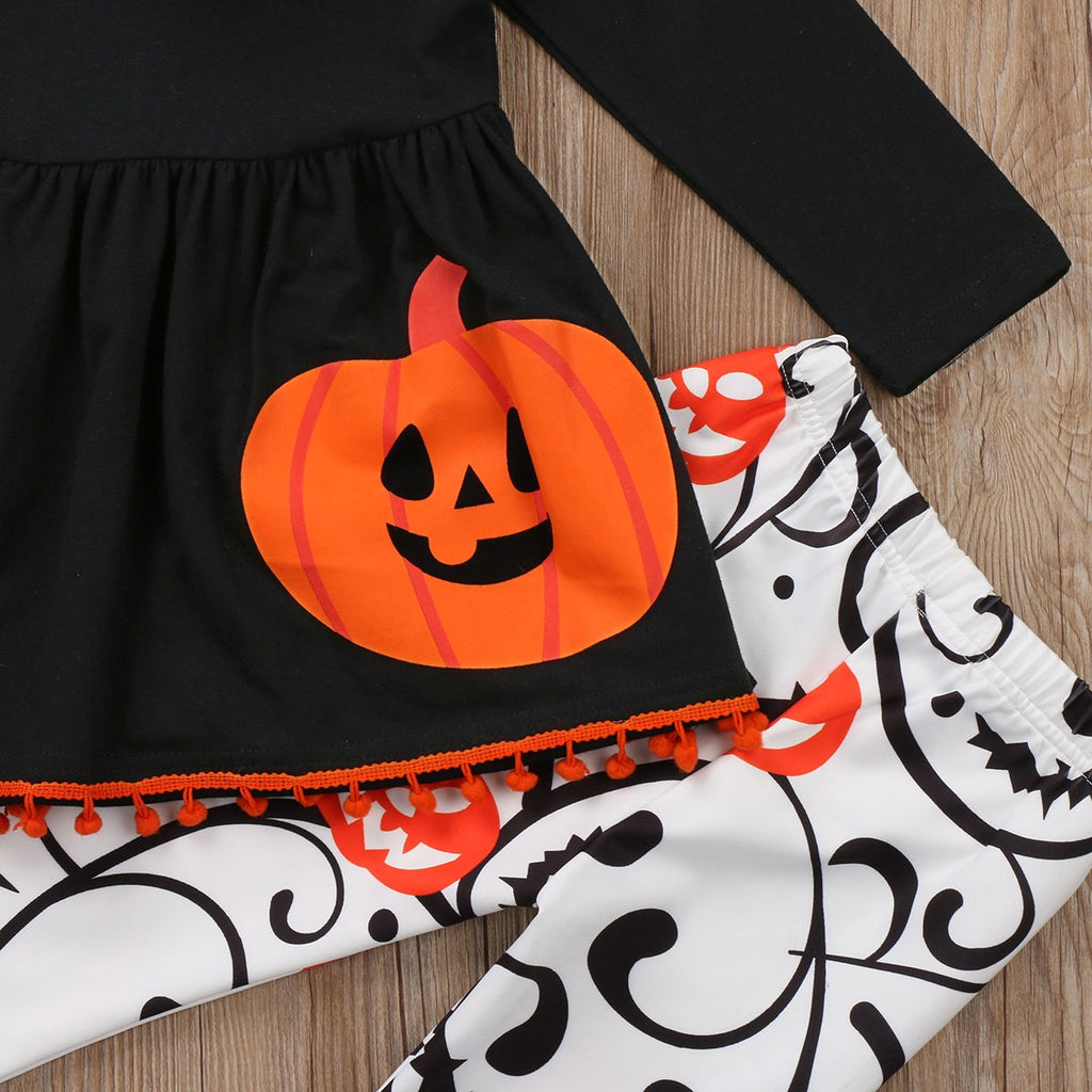 S-315 Toddler Girls Halloween 3PC Outfit Set Size 3T-7T