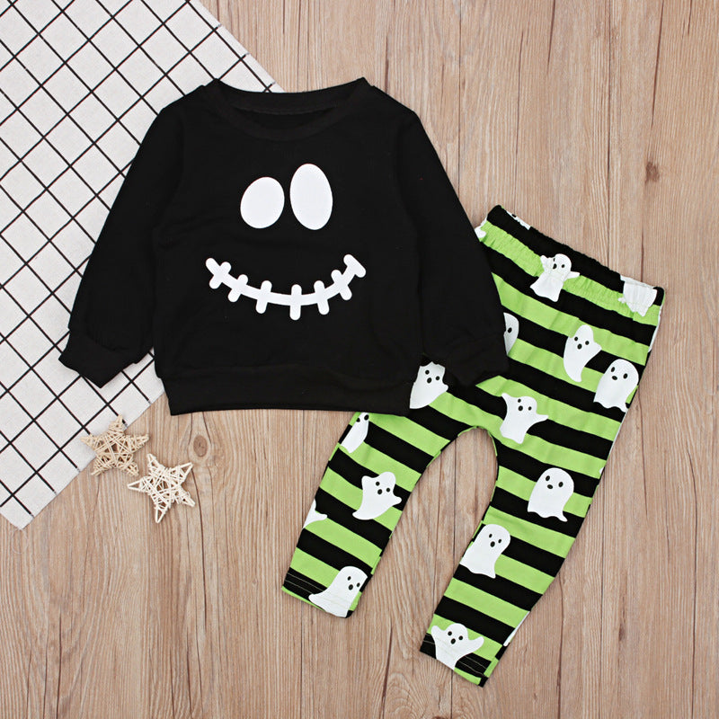 S-127 Boys Toddler Halloween 2 PCS Set  Sizes 1-5T