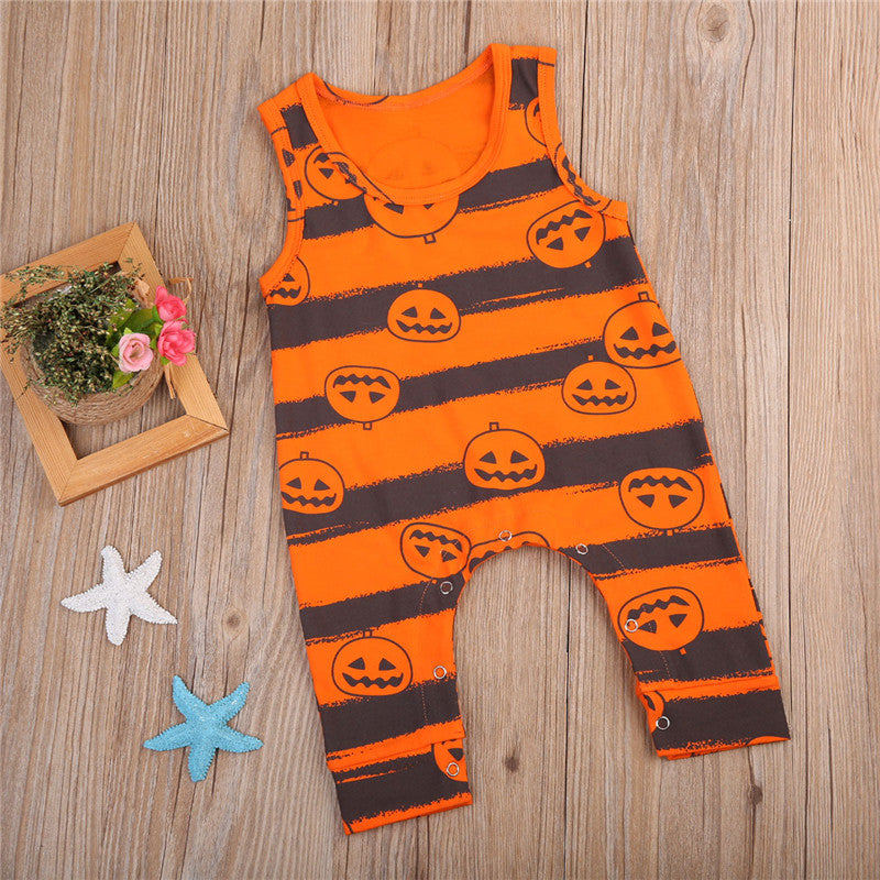 S-300 Halloween Toddler Baby Sleeveless Romper Outfit Sizes 0-24M
