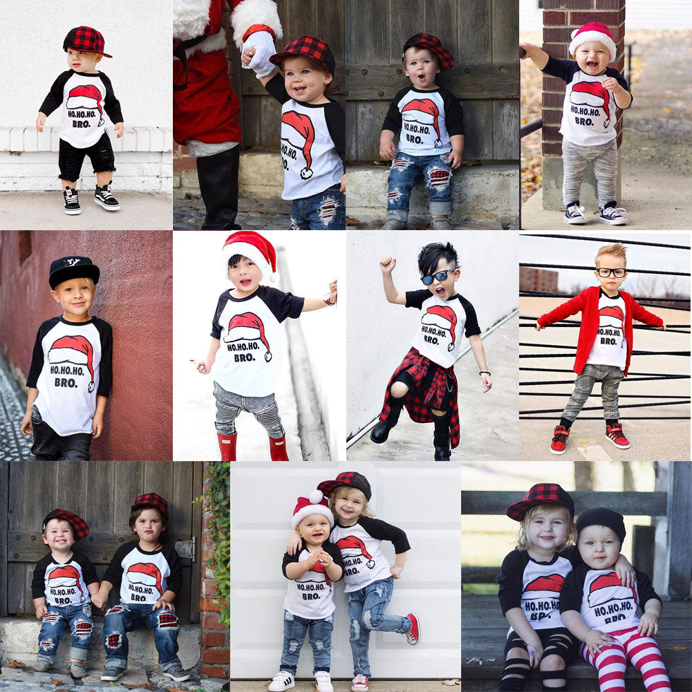 S-457 Boy Girl Christmas Top Size 2T-6T