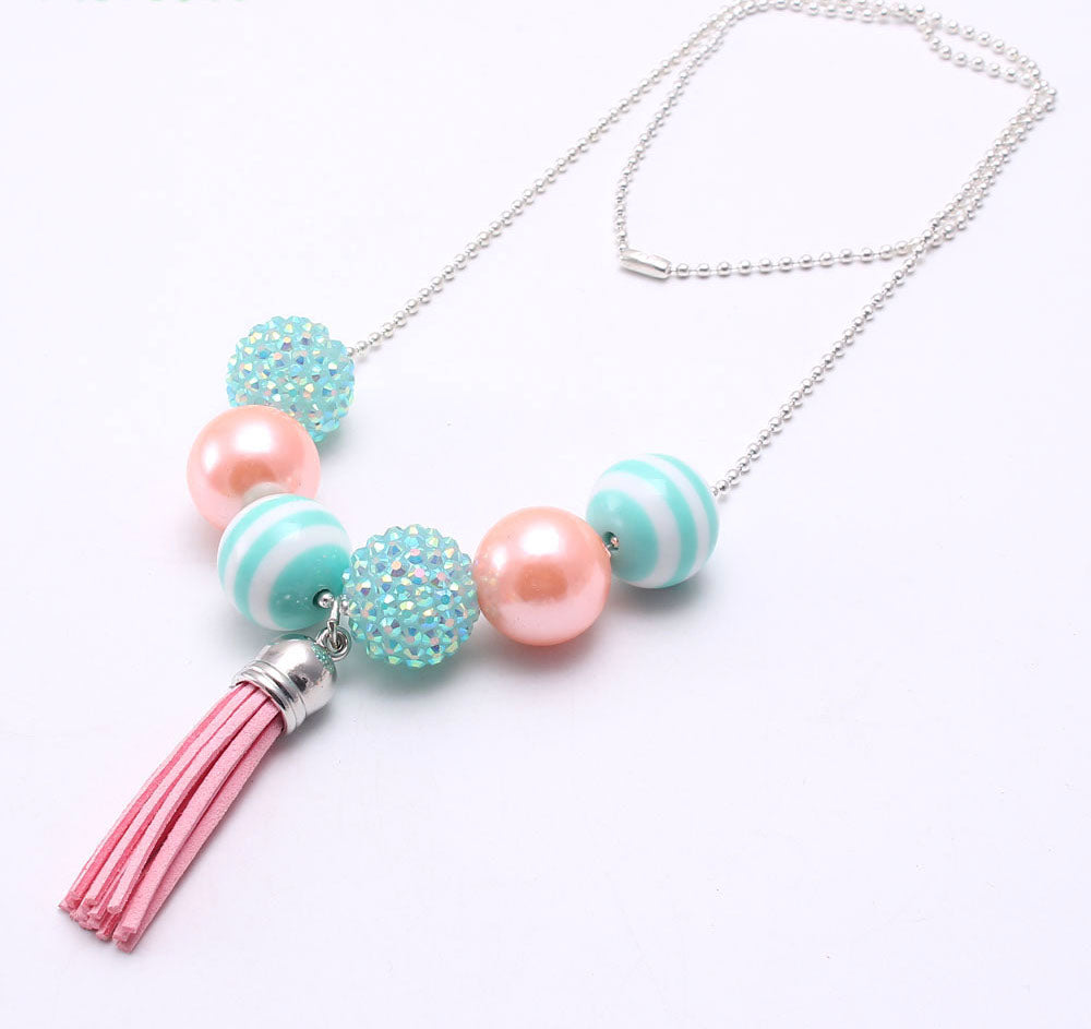JF-0022 Children's Chunky Beads Necklace