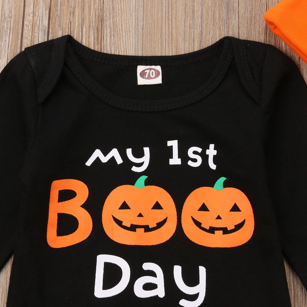 S-305 Newborn Infant Baby's First Halloween 3 PCS  Set Size 3M-18M