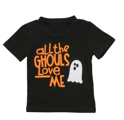 S-310 Toddler Baby Halloween T-shirt Size 6M-3T