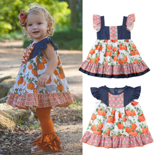S-177 Halloween Girl's Dress Size 12M-5T