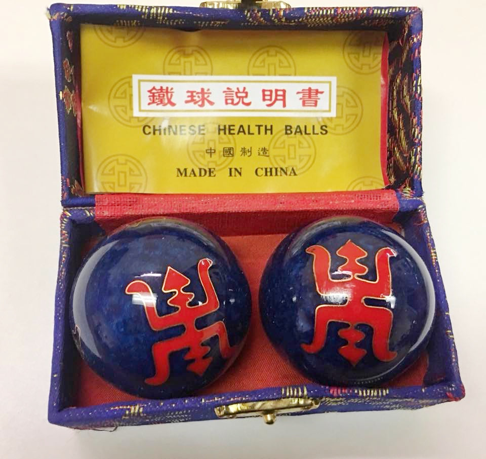 "1.7"" Chinese ""Infinity"" Exercise Massage Metal Balls that Chime"