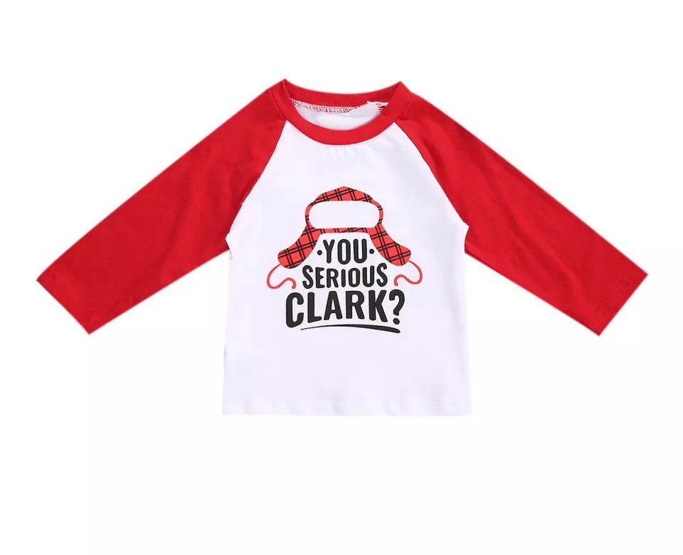S-2072 Christmas You Serious Clark Shirt Size 12M-5T