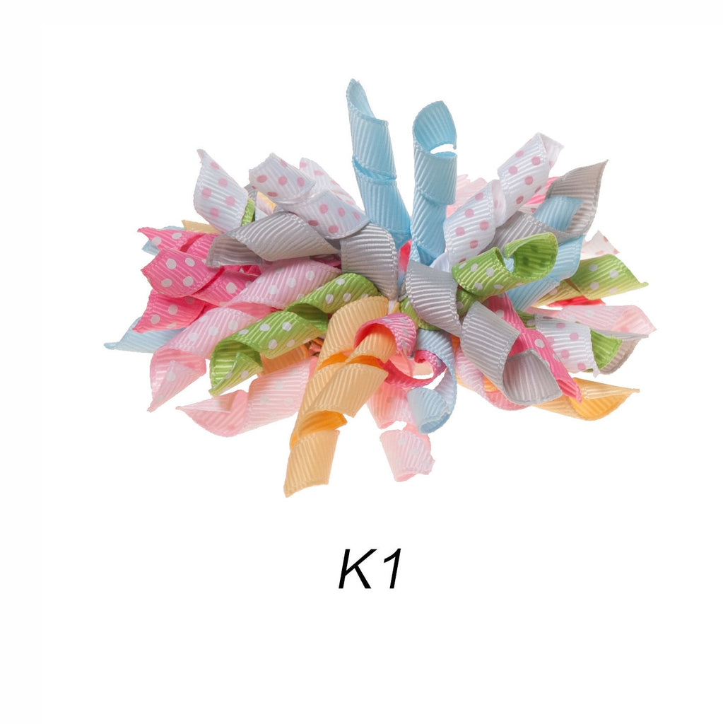 Korker #1 Fall Polka Dot Clip on Hair/Shoe Bow (Sold Individually)