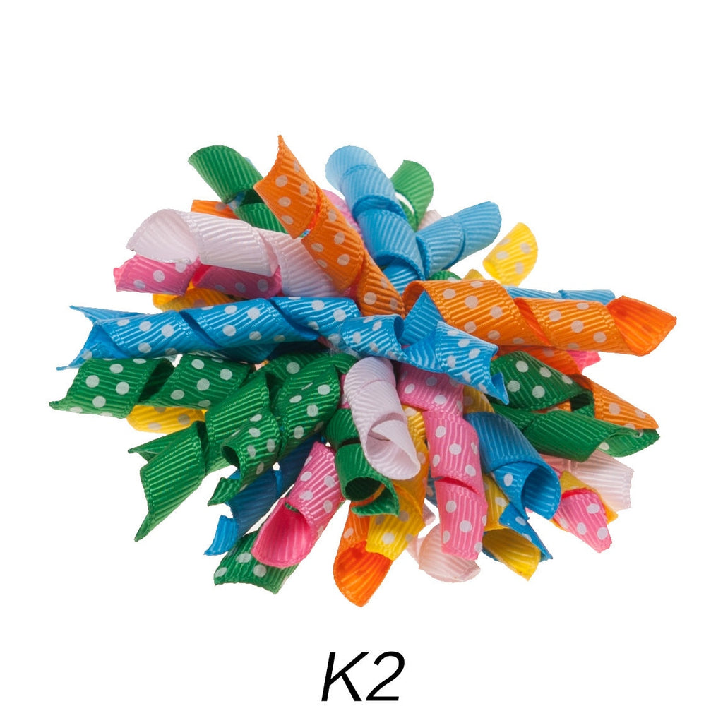Korker #2 Balloon Polka Dot Clip on Hair/Shoe Bow (Sold Individually)