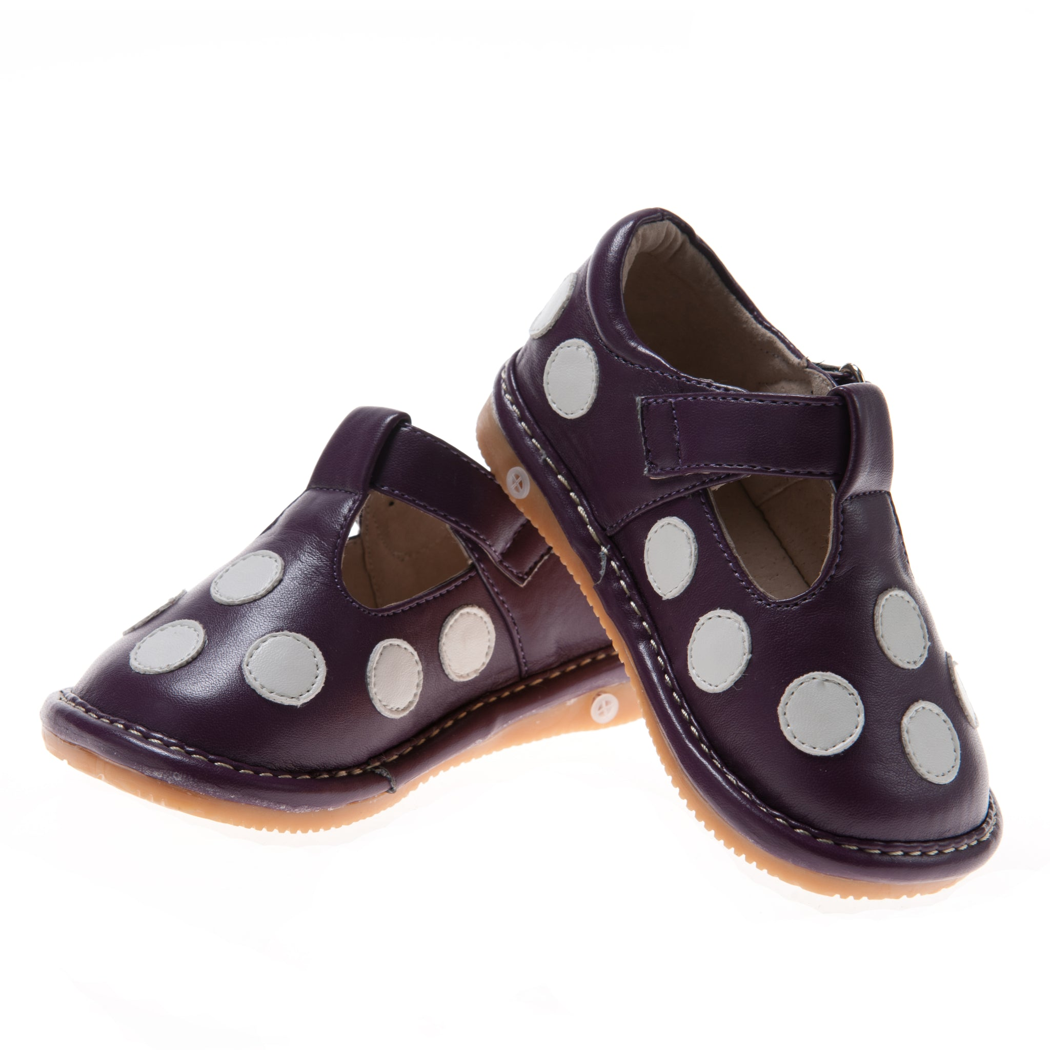 Girl/'s Black Leather Toddler Ruffle Squeaky Shoes Sizes 1 to 7 w//Free Stoppers